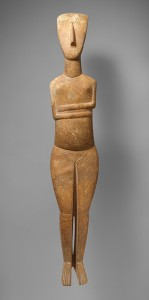 Standing female figure, ca. 2600–2400 B.C.; Early Cycladic II
