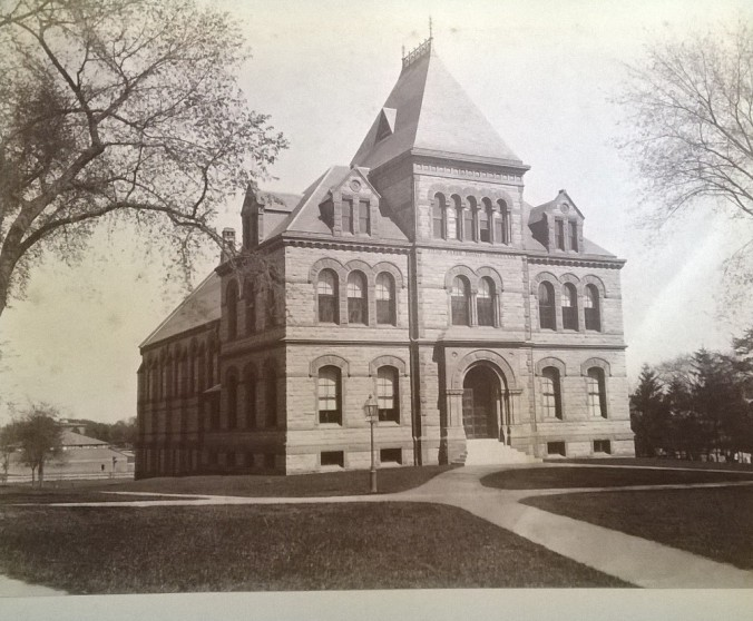 Sayles Hall, 1882. Brown University Archives