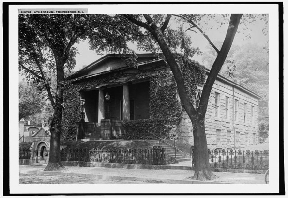 Figure 2 Athenaeum, Providence, R.I., 1906, glass negative, 8 x 10 in., Detroit Publishing Co., Library of Congress Prints and Photographs Division, accessed October 13, 2016, http://www.loc.gov/pictures/item/det1994012189/PP/