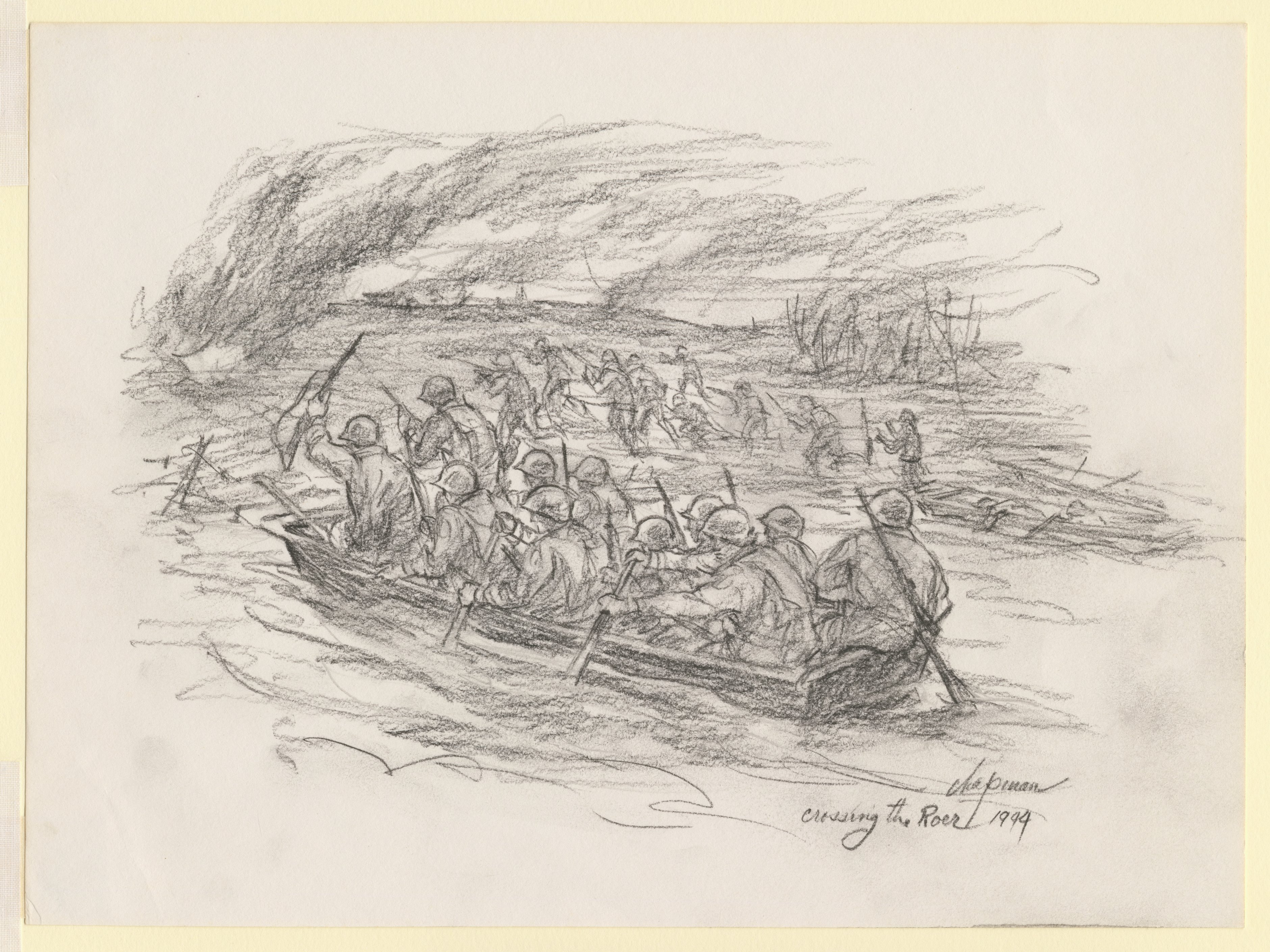 Walter Chapman S World War Two Drawings Anne S K Brown
