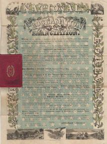 Emancipation Proclamation by Rufus Blanchard (Chicago 1864)