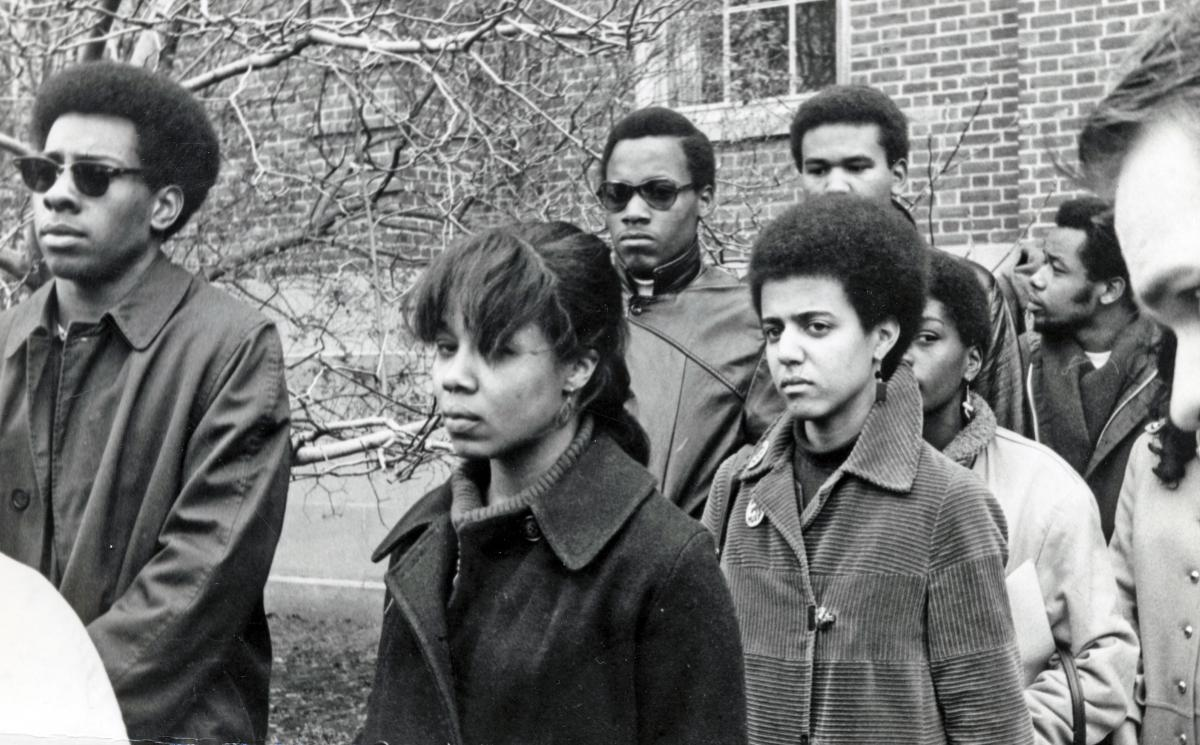 The Black men of the Afro-American Society at Brown University and Black  women of