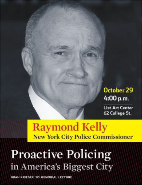 This controversial poster was hung around Brown's campus to promote Ray Kelly's lecture.