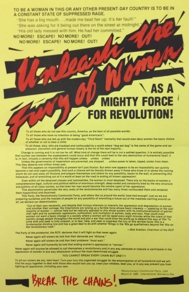 Revolutionary Communist Party (March 8, 1985)