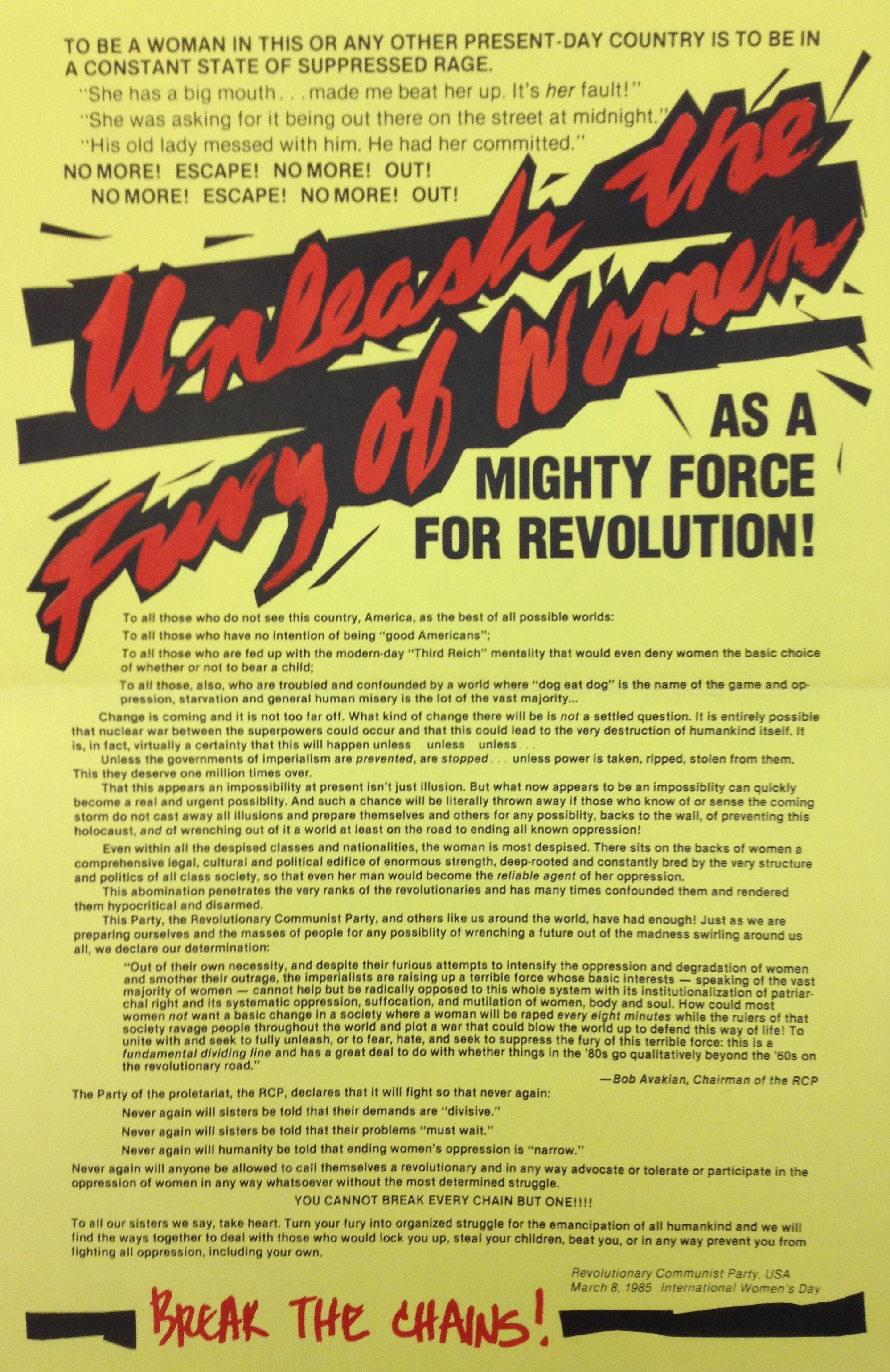 Revolutionary Communist Party, USA