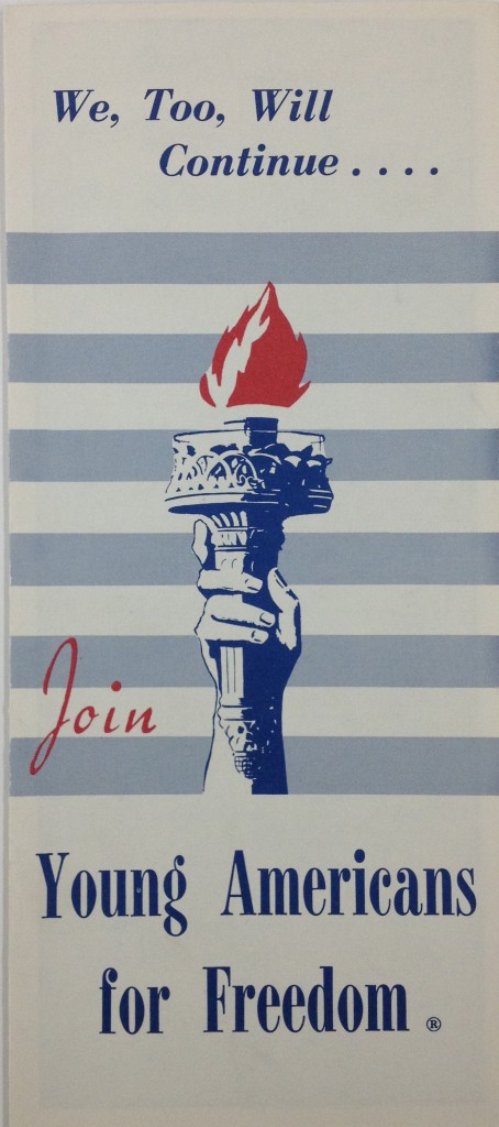 Young Americans For Freedom Pamphlet Cover (1964)