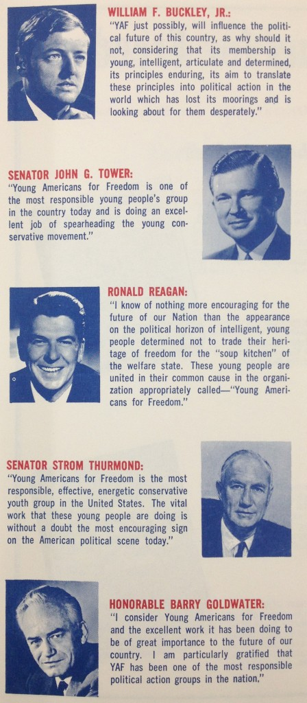 Young Americans For Freedom Pamphlet Inside (1964)