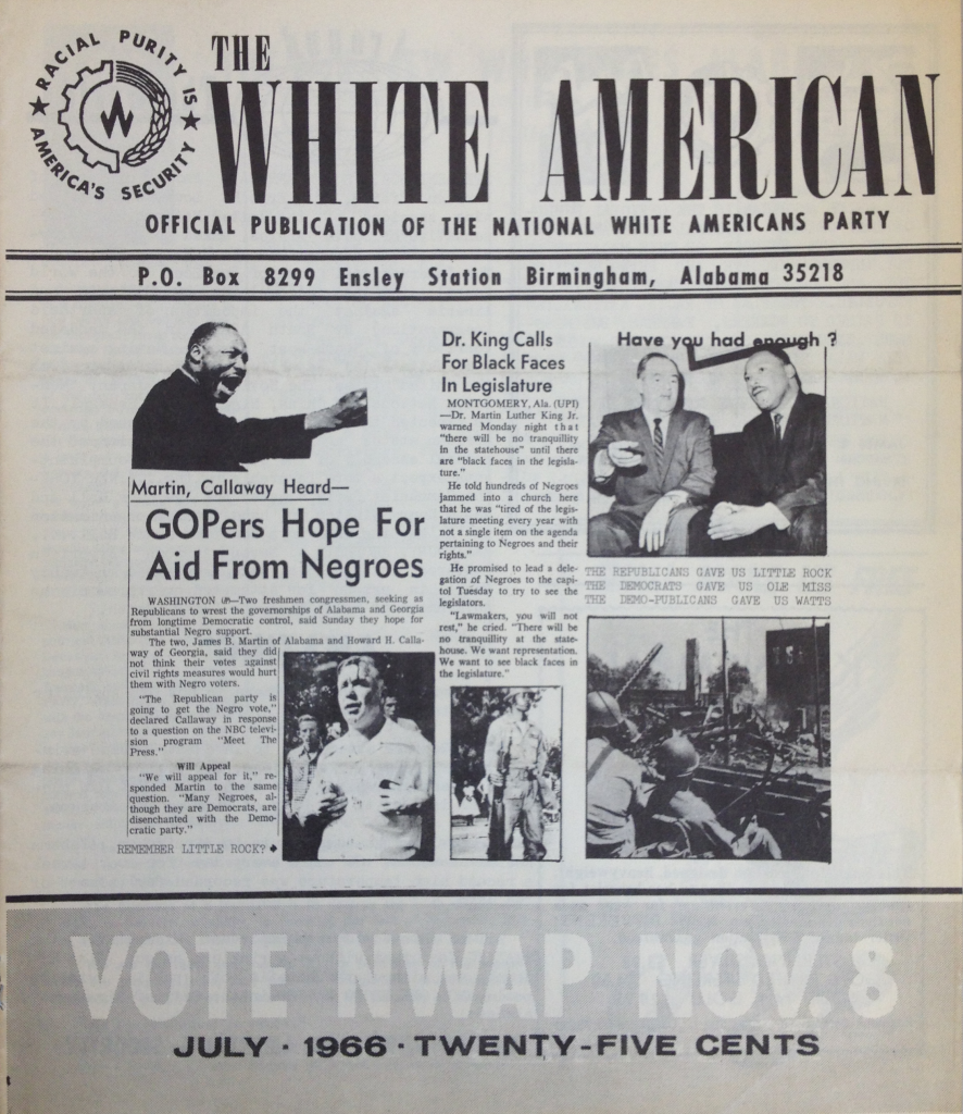 The White American Front Cover (1966)