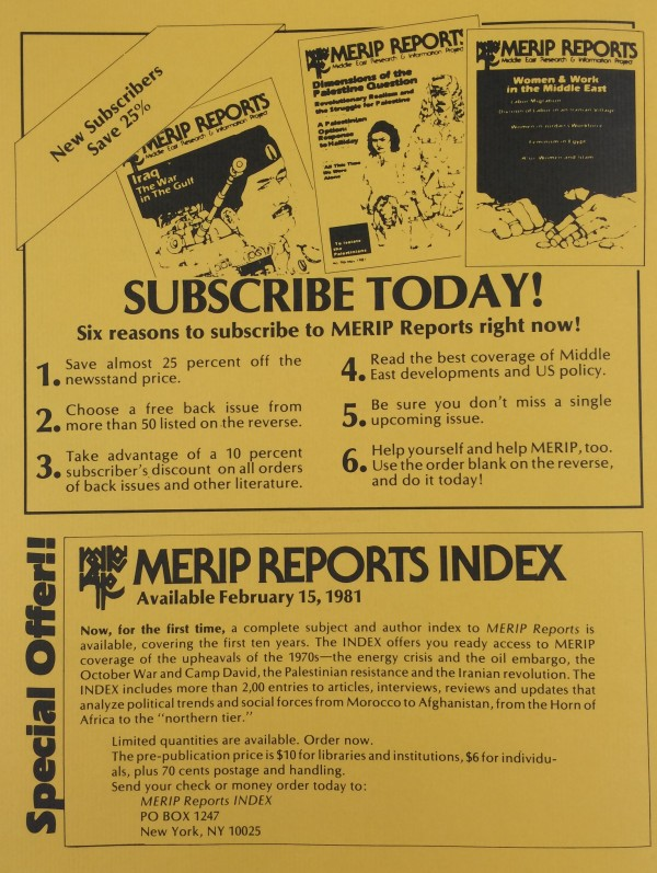 MERIP Reports