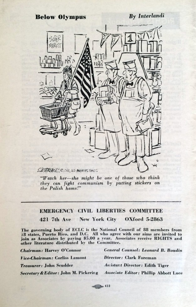 Emergency Civil Liberties Committee (March 1963  Back Cover)