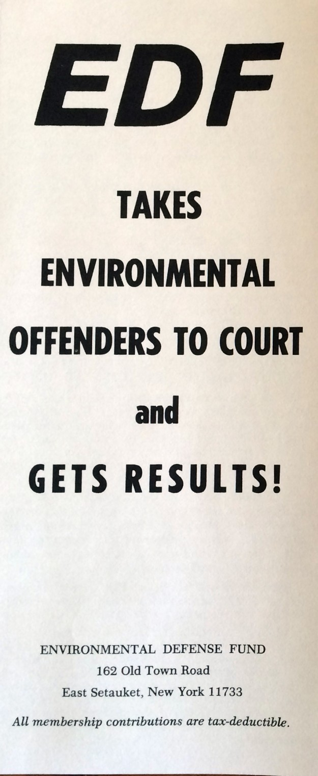Environmental Defense Fund (1971 Back)