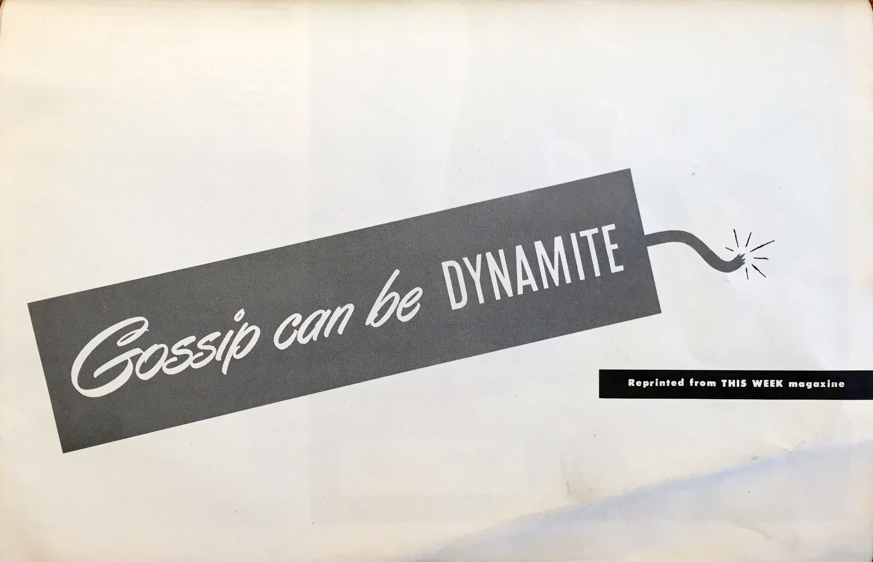 Gossip Can Be Dynamite