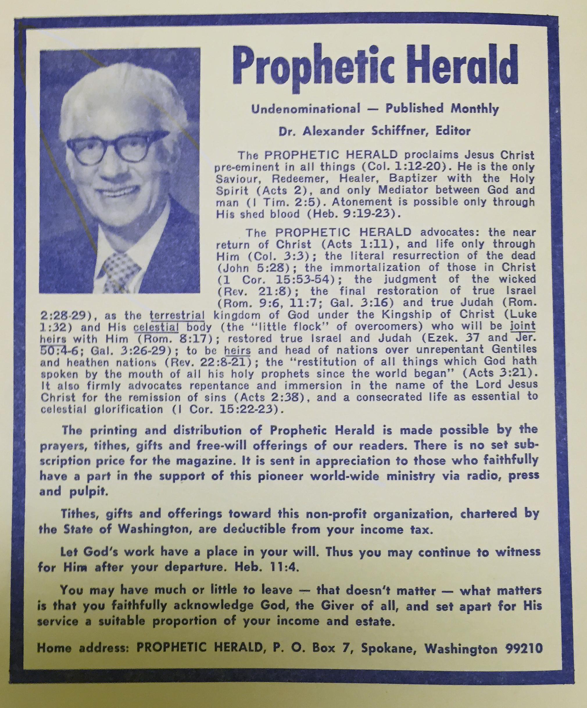 Prophetic Herald Inside (1975)