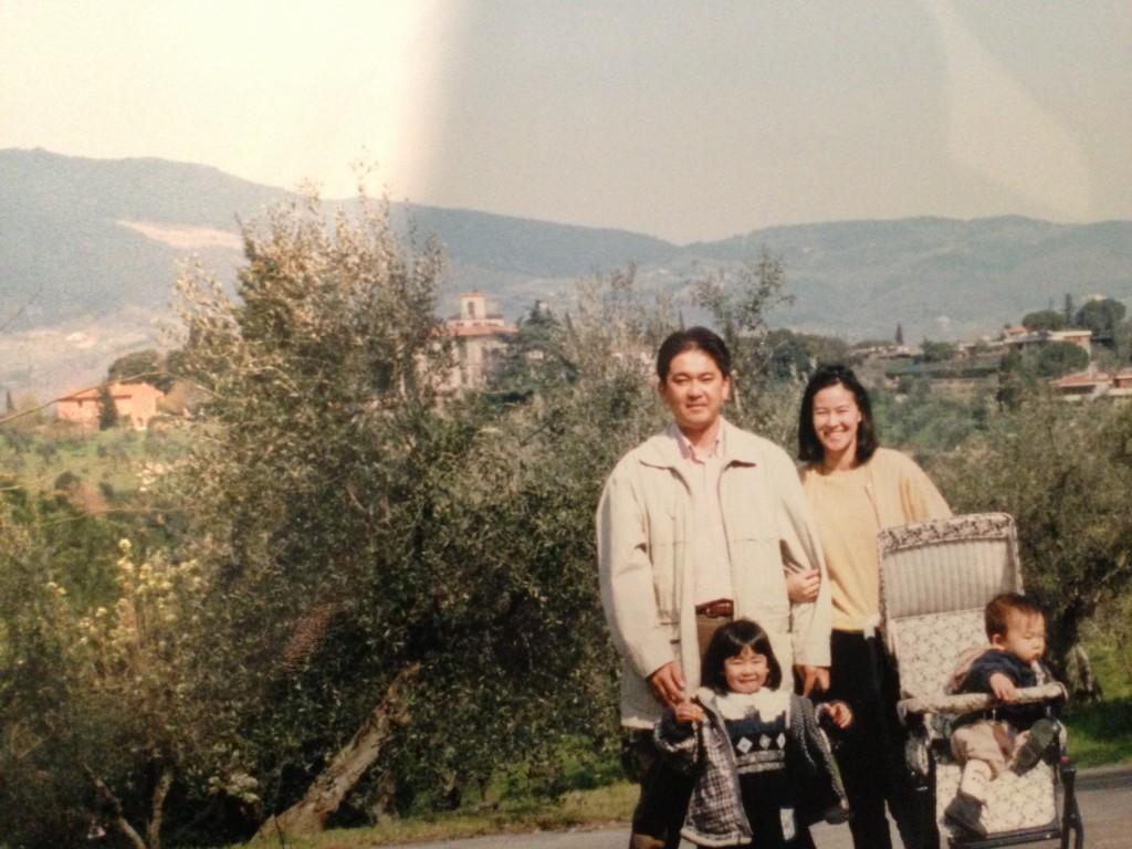 Sakura and her family in Italy