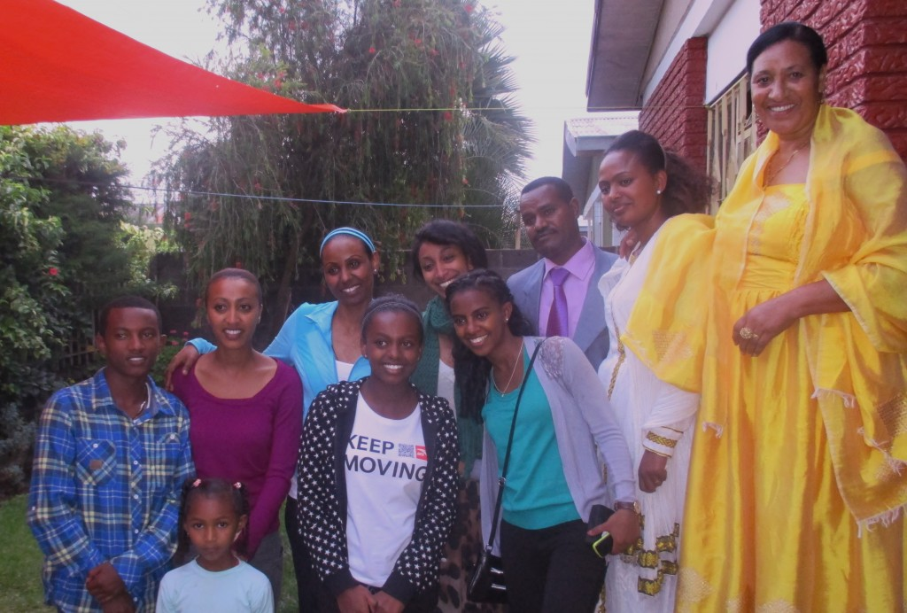 A new view of Ethiopia: Saron and family at a family holiday celebration.