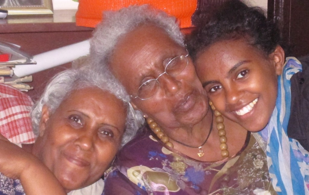 A different view of Ethiopia: Saron and her mother and grandmother, the two most important women in her life.