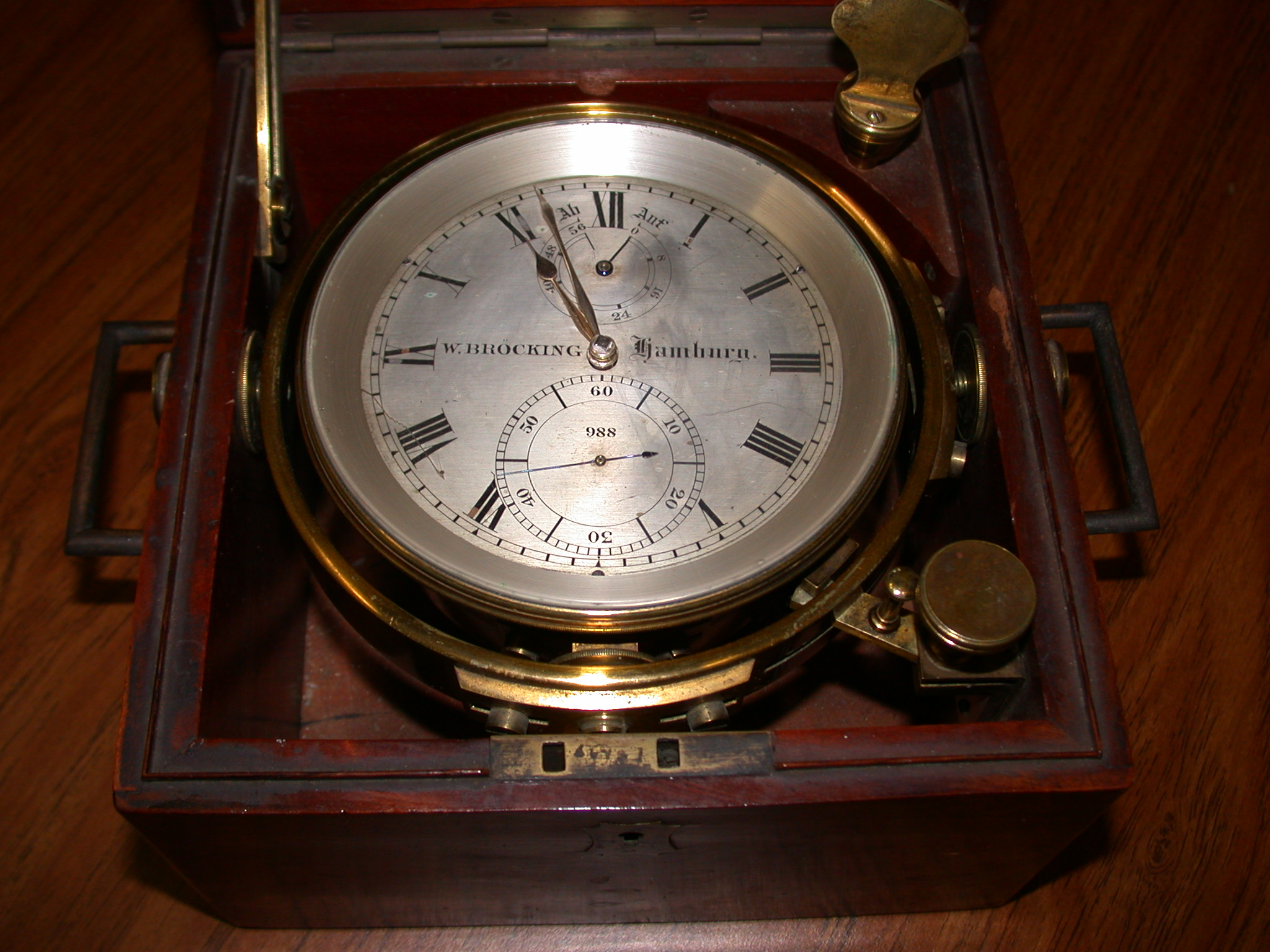 Brocking chronometer
