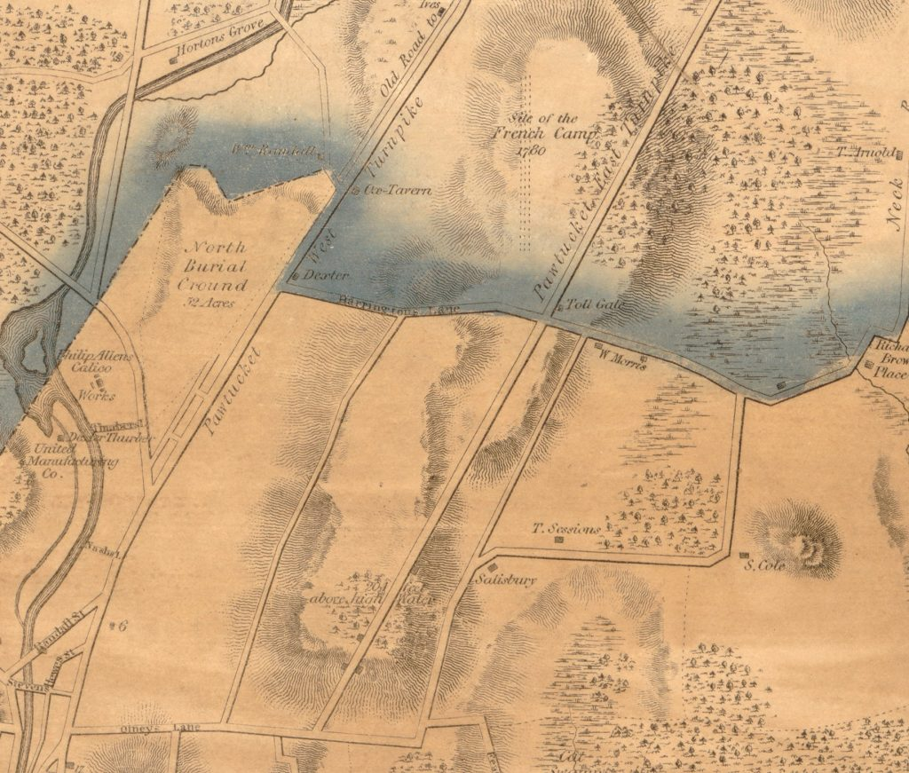 Map of Tin-top Hill, 1835