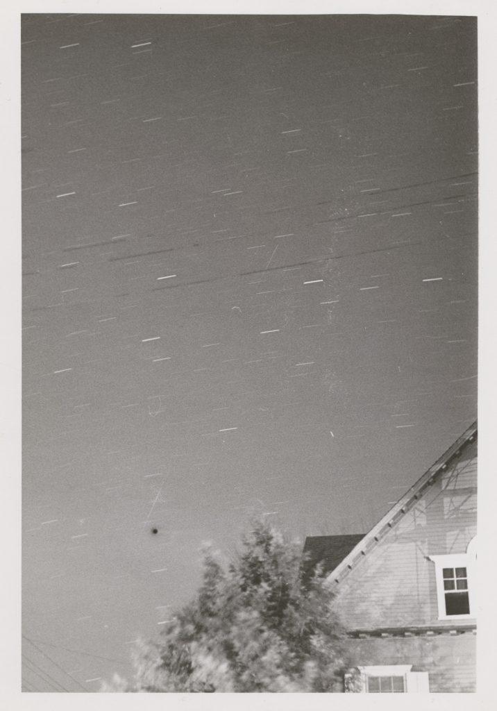 Photo showing trail of Sputnik II