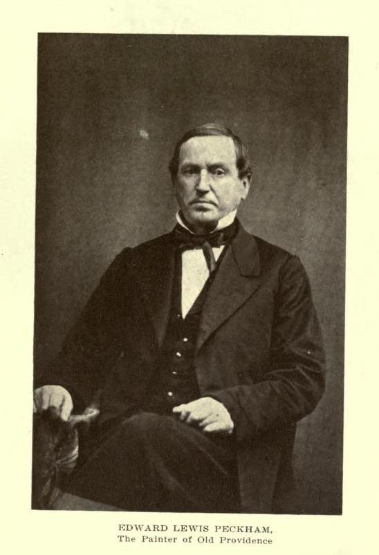 Portrait of painter Edward Lewis Peckham