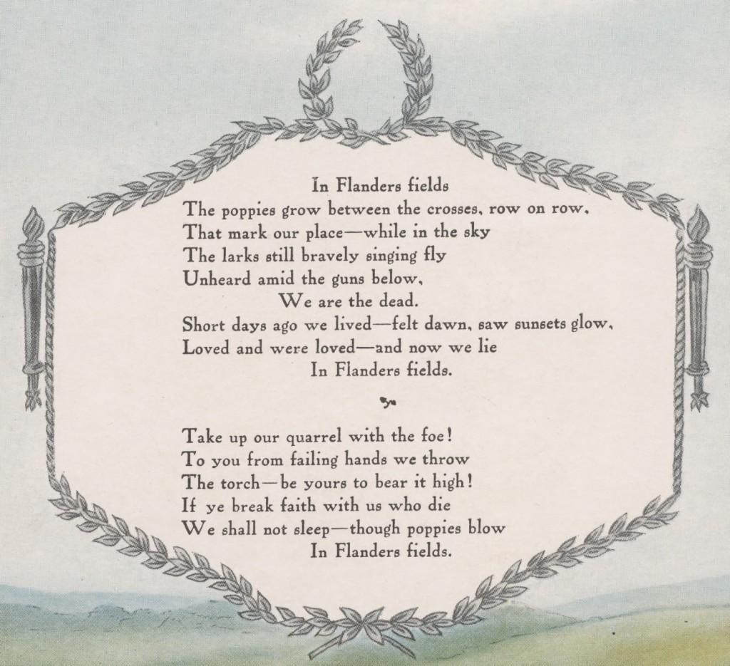 Poem: In Flander's Fields