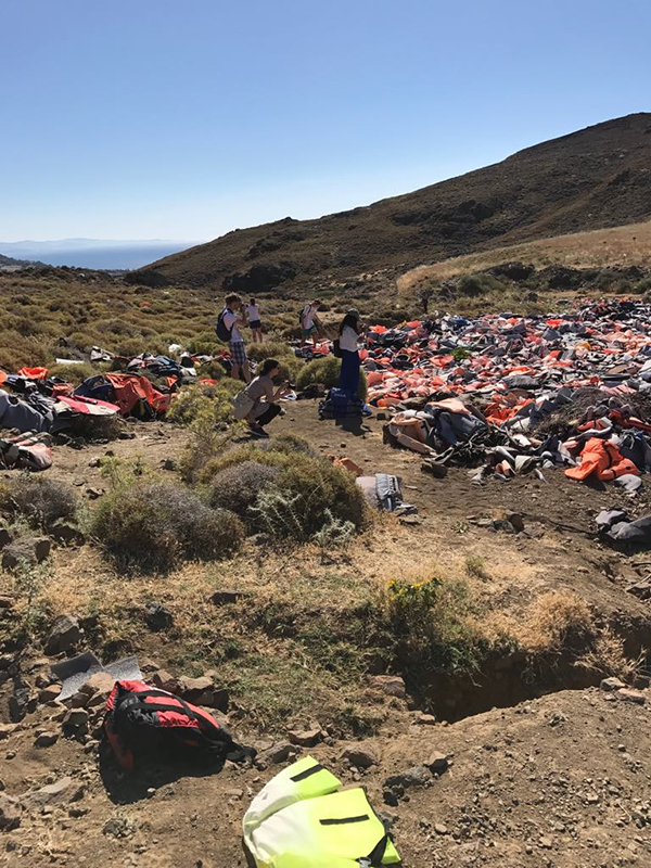 Photo of the Lifevest Cemetery in Greece.