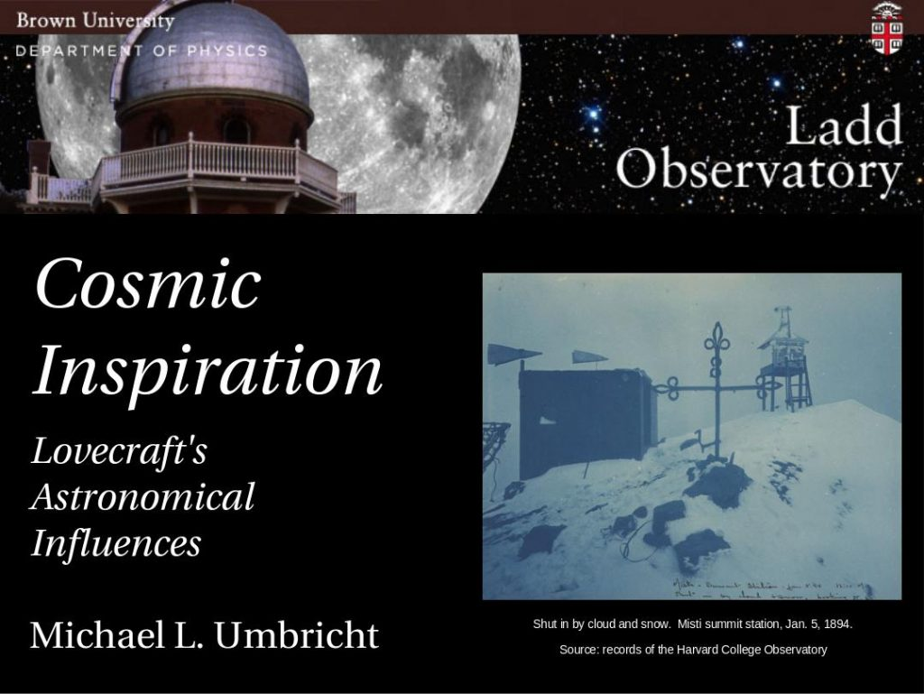 Cosmic Inspiration: Lovecraft's Astronomical Influences
