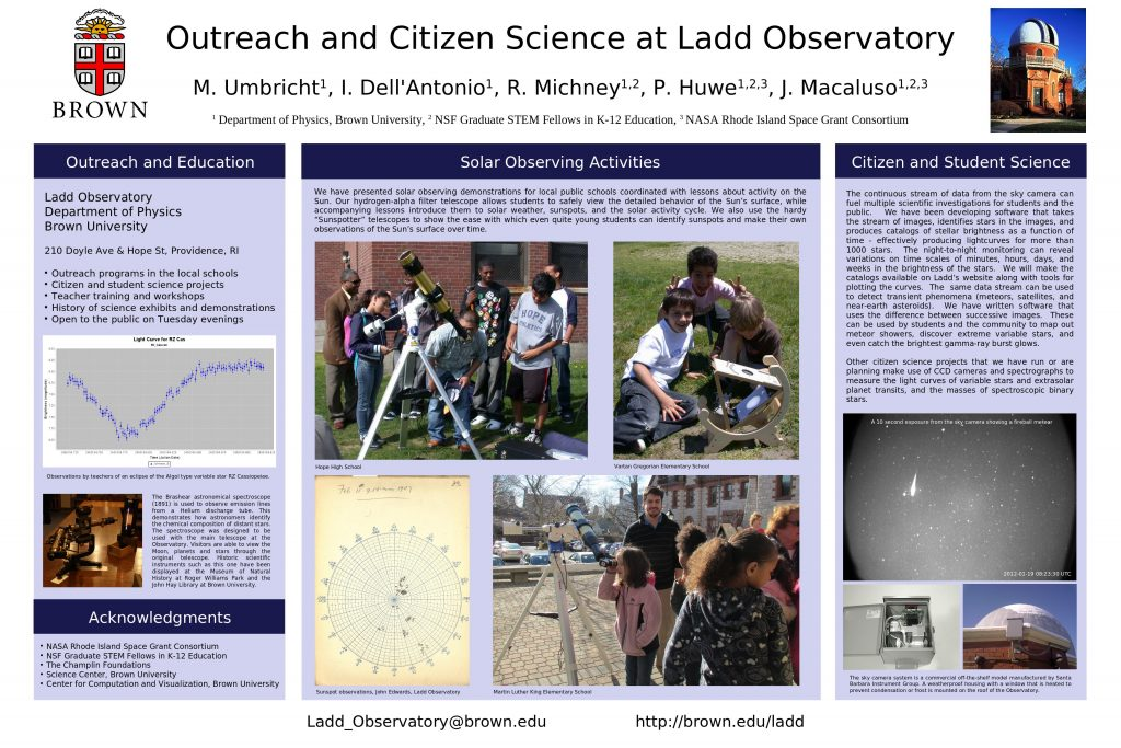 Outreach and Citizen Science at Ladd Observatory