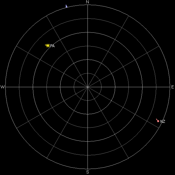 Sky view of the four CubeSats on October 7th